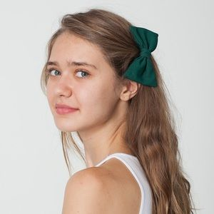 Red American Apparel Hair Bow
